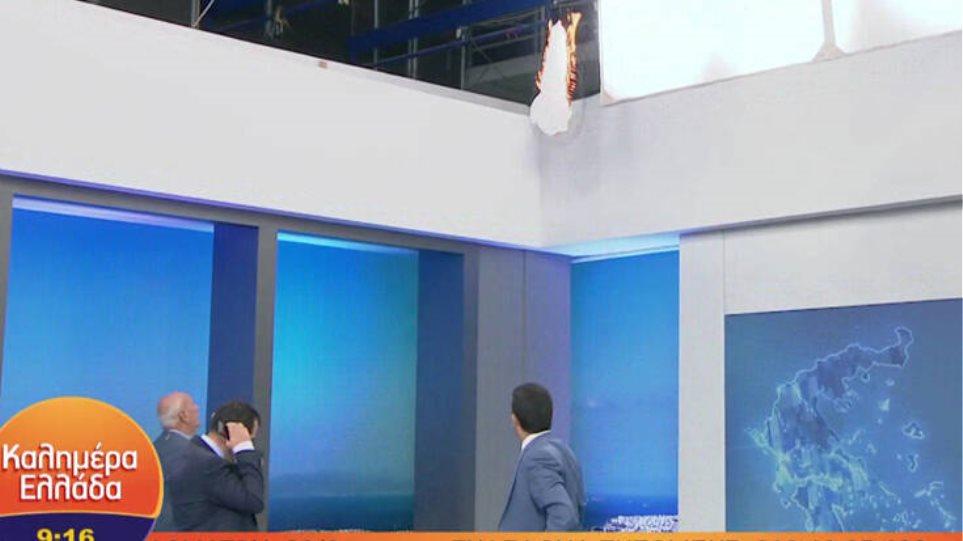 Πήρε φωτιά on air το στούντιο του Γιώργου Παπαδάκη. Δείτε βίντεο
