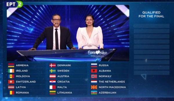 Eurovision 2019: Οι δέκα χώρες που πέρασαν από τον δεύτερο ημιτελικό