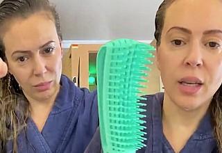 Συγκλονίζει σε βίντεο η Alyssa Milano: Πέφτουν τούφες τα μαλλιά της από τον κορονοϊό
