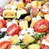 Καλοκαιρινή σαλάτα με ψητά κολοκυθάκια