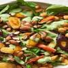 Δροσερή σαλάτα με ψητά καρότα και ρεβίθια